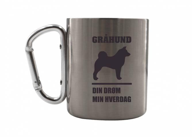 Bilde av Stålkopp gråhund din drøm min hverdag