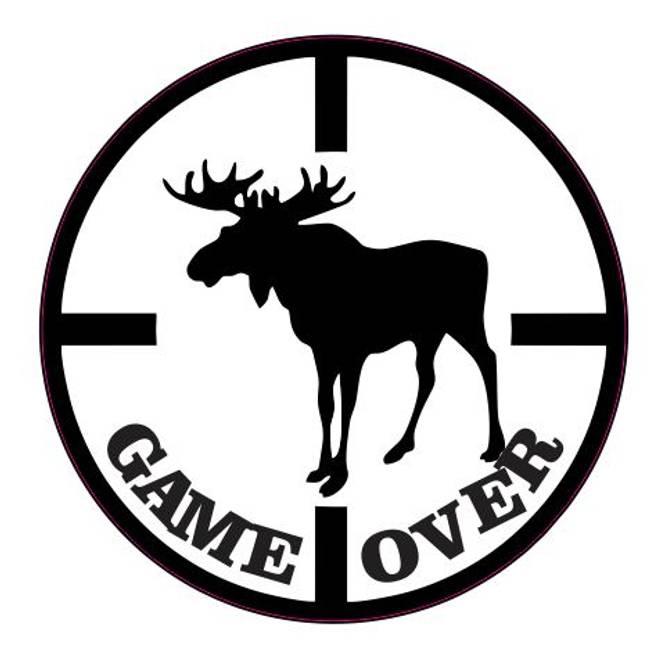 Bilde av Game Over Elg Klistremerke