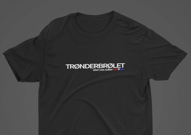 Bilde av TRØNDERBRØLET uten oss stopper NORGE t-skjorte